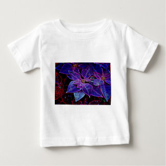 Psychedelic Poinsettia Baby T-Shirt