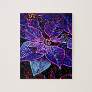 Psychedelic Poinsettia Jigsaw Puzzle