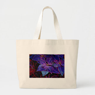 Psychedelic Poinsettia Large Tote Bag