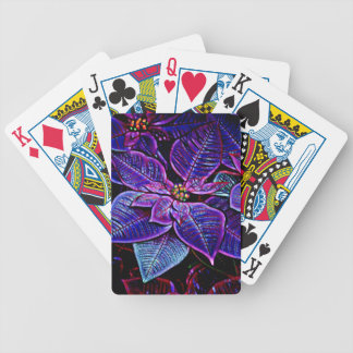 Psychedelic Poinsettia Poker Deck