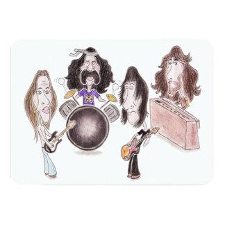 Psychedelic Progressive Rock Caricature Invitation