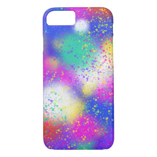 Psychedelic Purple Blue Pink Abstract Art Design iPhone 8/7 Case