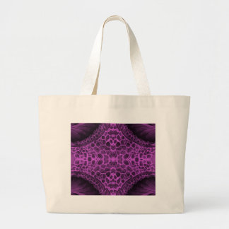 Psychedelic Purple Large Tote Bag