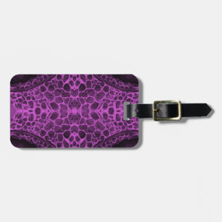 Psychedelic Purple Luggage Tag