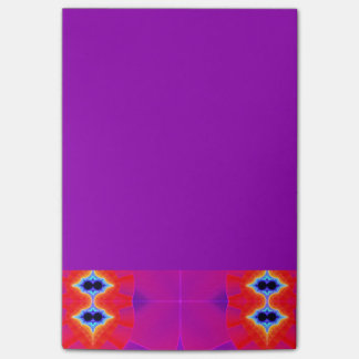 Psychedelic Purple Orange Artwork Post-it Notes