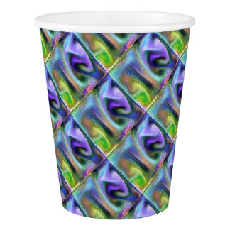 Psychedelic purple paper cup