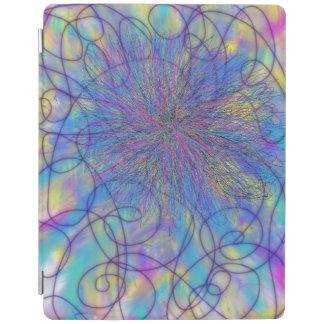 Psychedelic Purple Pink Star Abstract Art Design iPad Smart Cover