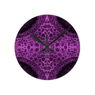 Psychedelic Purple Round Clock