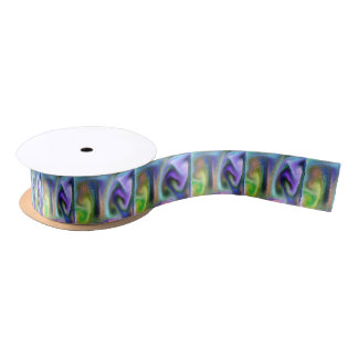 Psychedelic purple satin ribbon