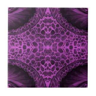 Psychedelic Purple Small Square Tile
