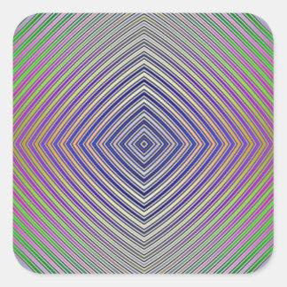 Psychedelic Pyramid Plan Sticker