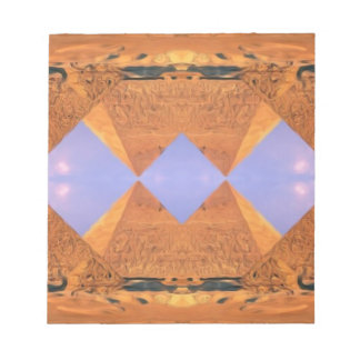 Psychedelic Pyramids Notepad