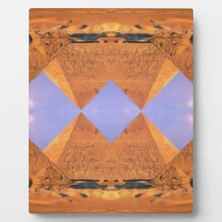 Psychedelic Pyramids Plaque