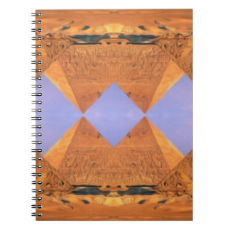Psychedelic Pyramids Spiral Notebook