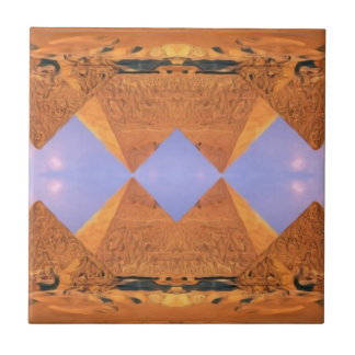 Psychedelic Pyramids Tile