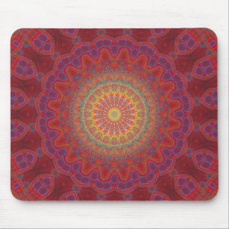Psychedelic Radial Pattern Mousepad