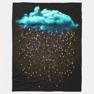 Psychedelic Rain Cloud Fantasy Art Fleece Blanket