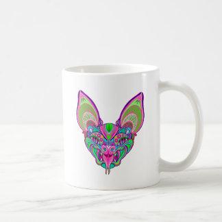 Psychedelic rainbow bat coffee mug