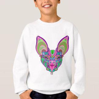 Psychedelic rainbow bat sweatshirt