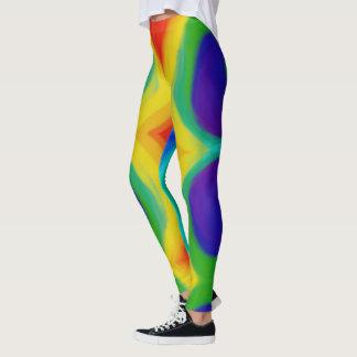 Psychedelic Rainbow Blog Leggings