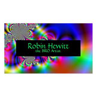 Psychedelic Rainbow Flowers Pack Of Standard Business Cards