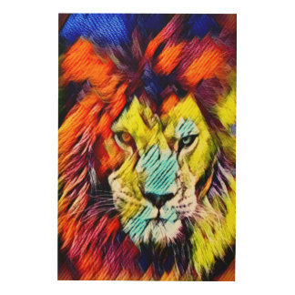 Psychedelic Rainbow Lion Art