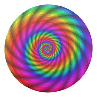 Psychedelic Rainbow Spiral Eraser