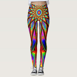 Psychedelic Rainbow Star Leggings