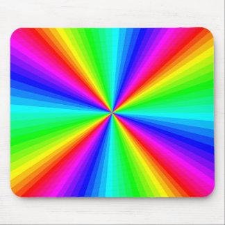 Psychedelic Rainbow Sunburst Mousepad