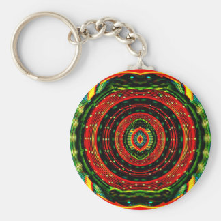 Psychedelic Rasta Key Ring