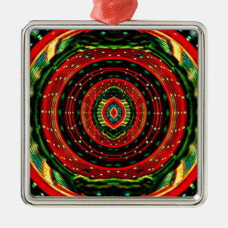Psychedelic Rasta Metal Ornament