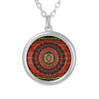 Psychedelic Rasta Silver Plated Necklace