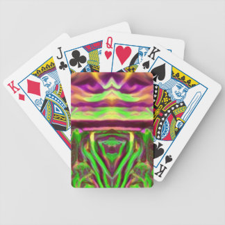 Psychedelic Rave Print Bicycle Playing Cards