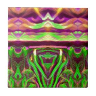 Psychedelic Rave Print Ceramic Tile