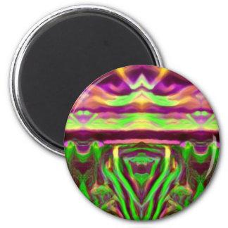 Psychedelic Rave Print Magnet