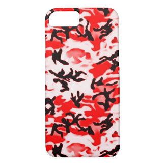 Psychedelic Red Camo iPhone 7 Case