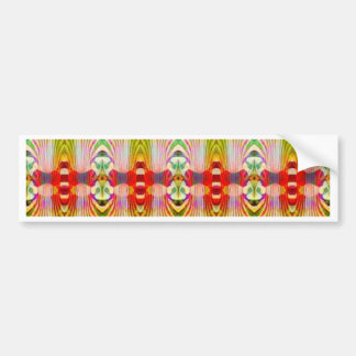 Psychedelic Red Yellow Bumper Sticker