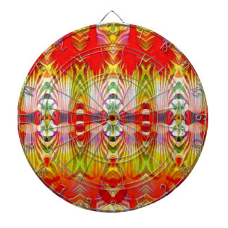 Psychedelic Red Yellow Dartboard