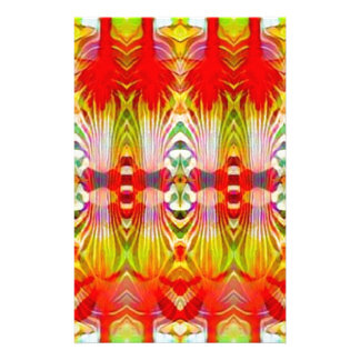 Psychedelic Red Yellow Stationery