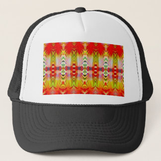 Psychedelic Red Yellow Trucker Hat