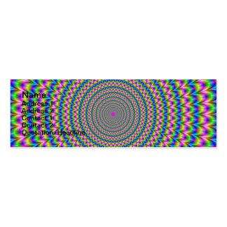 Psychedelic Rings Card Pack Of Skinny Business Cards