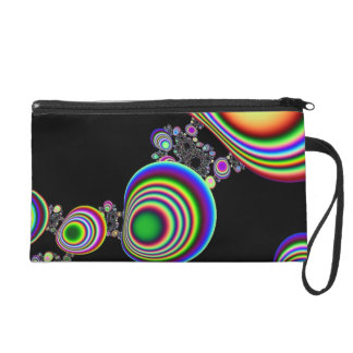 Psychedelic Ripple Wristlet Clutch