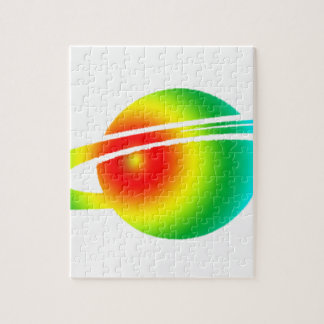Psychedelic Saturn Jigsaw Puzzle