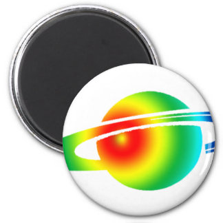 Psychedelic Saturn Magnet
