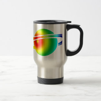 Psychedelic Saturn Travel Mug