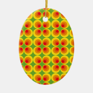psychedelic seventies ceramic ornament