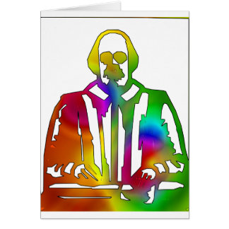 Psychedelic Shakespeare Card