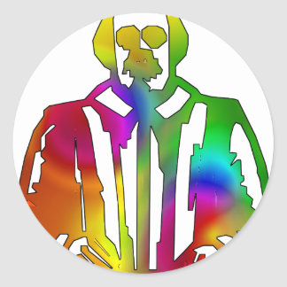 Psychedelic Shakespeare Classic Round Sticker