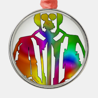 Psychedelic Shakespeare Metal Ornament
