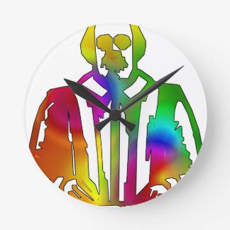 Psychedelic Shakespeare Round Clock